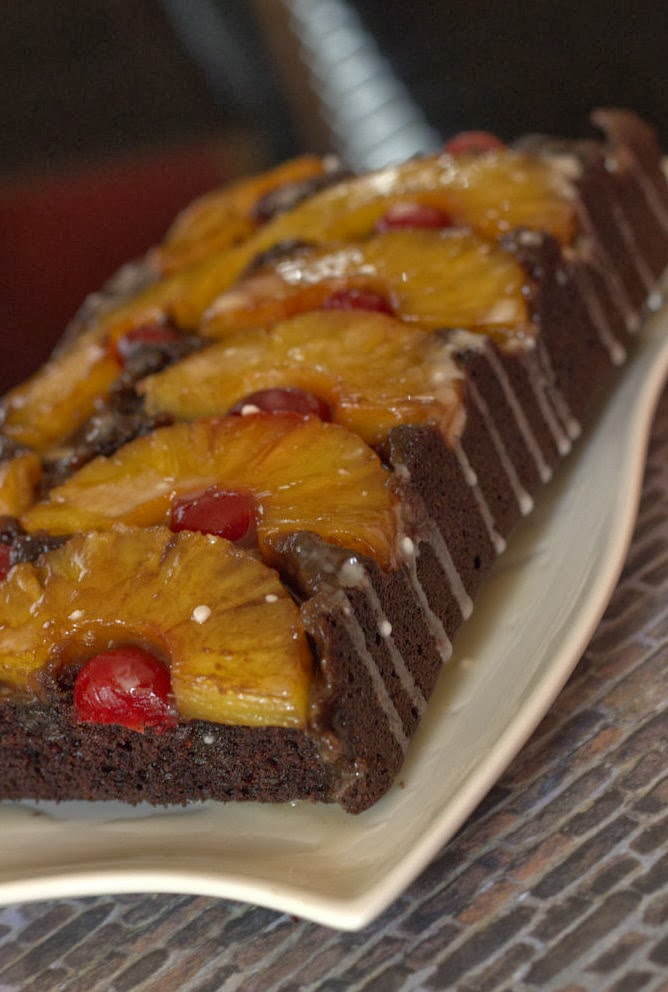 Eggless chocolate pineapple upside down cake | Feed Your Temptations
