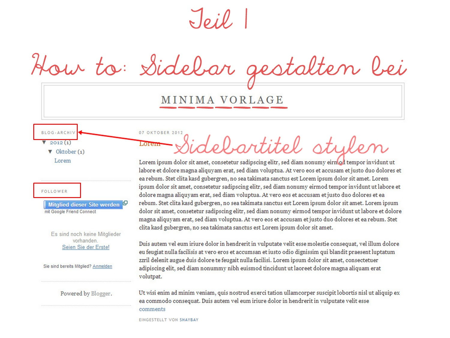 Copy Paste Love | by MiraDesigns: Sidebar gestalten mit Minima: Teil ...