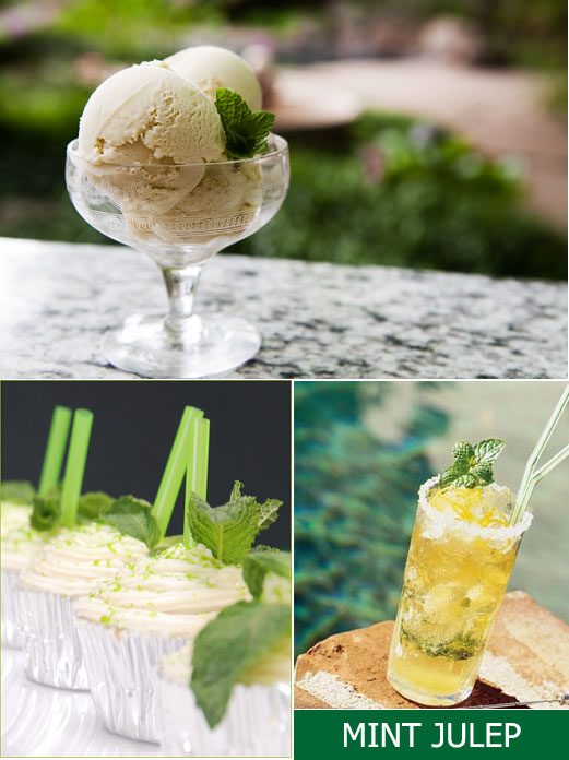 Mint Julep Ice Cream ; Mint Julep Cupcakes ; Classic Mint Julep - see ...