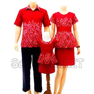 SK011 Sarimbit Batik Gamis/Muslim Pasangan Solo 2013