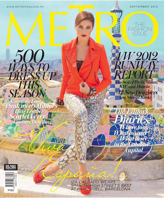 Iza Calzado covers Metro Magazine September 2012 issue