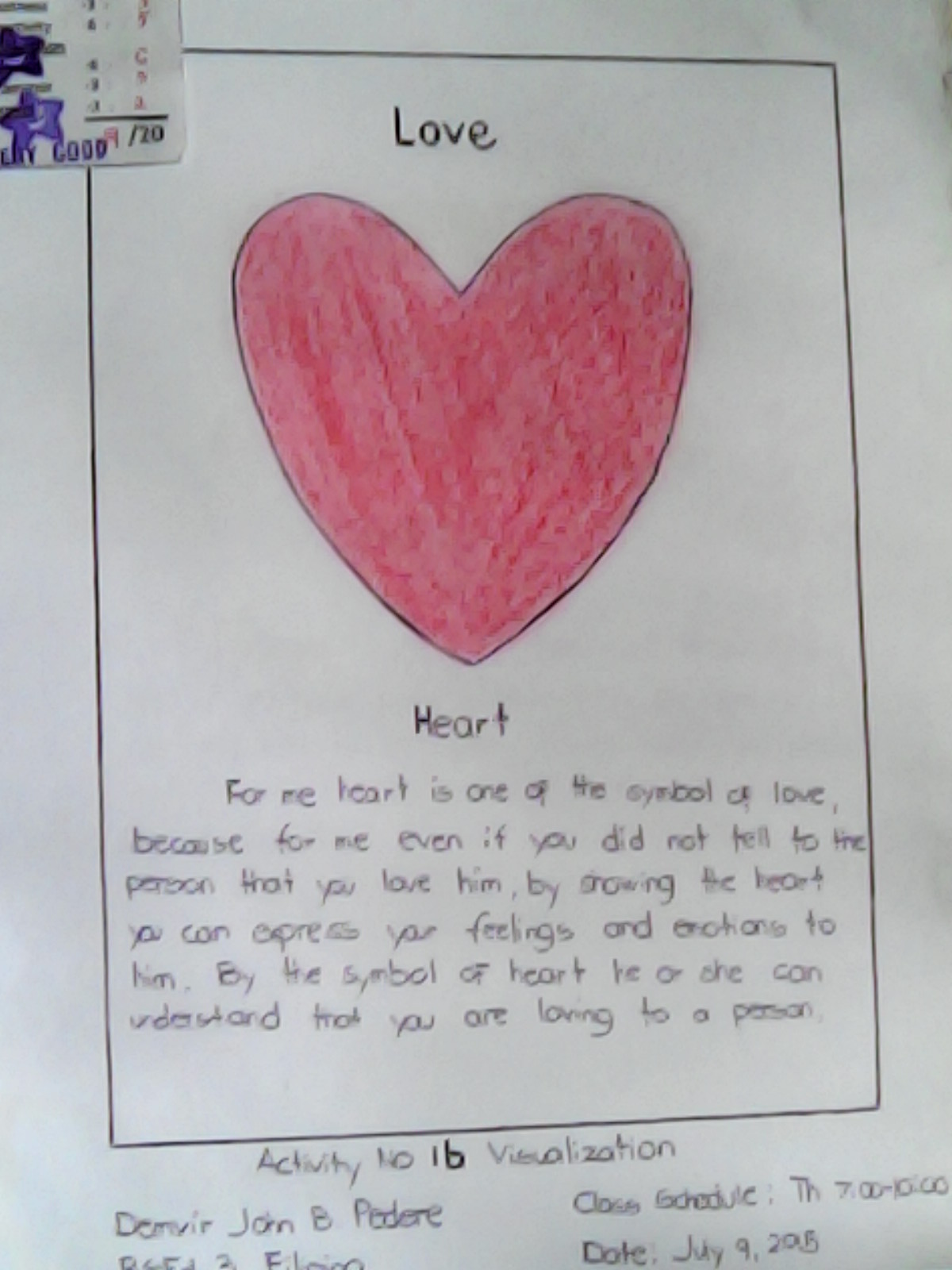 Educational technology experience 2015 in the activity 1b i experience to draw a five 5 things that symbols for love pain fear holy and life i draw it very simple and i wrote a definition buycottarizona Image collections