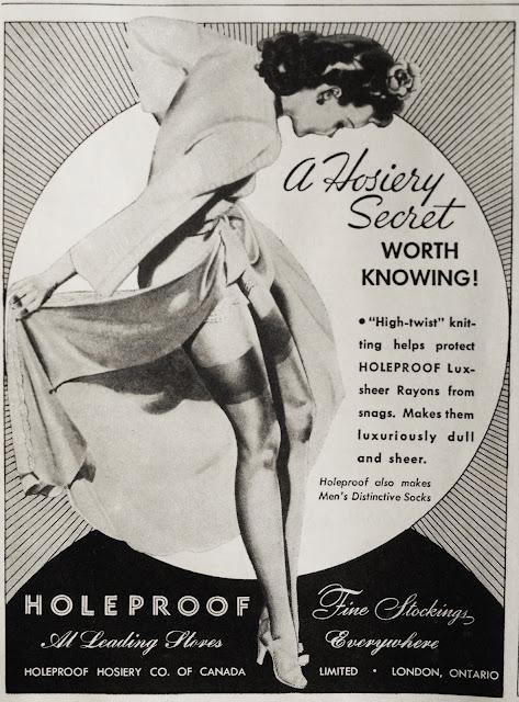 Flashback Summer: Hosiery Hankering- vintage old hosiery ad