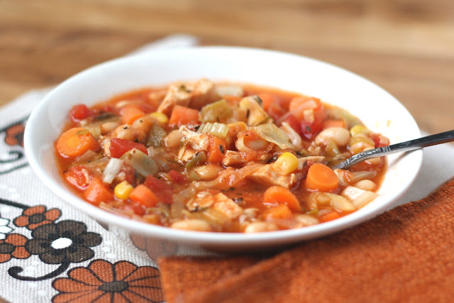 Italian Chicken and Vegetable Soup recipe by Barefeet In The Kitchen