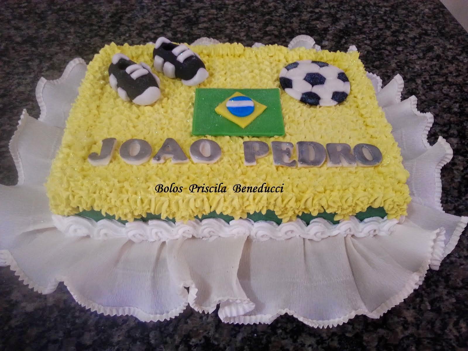 Bolo Copa do Mundo - Bolo Brasil