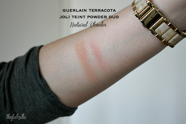 Guerlain Terracotta Joli Teint Powder Duo, 02 Natural/Blondes, Review, Swatch, Guerlain Beauty Summer 2015, how to contour