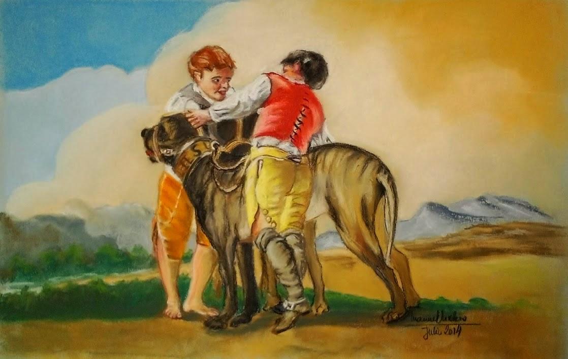 Niños con perros de presa (Goya)