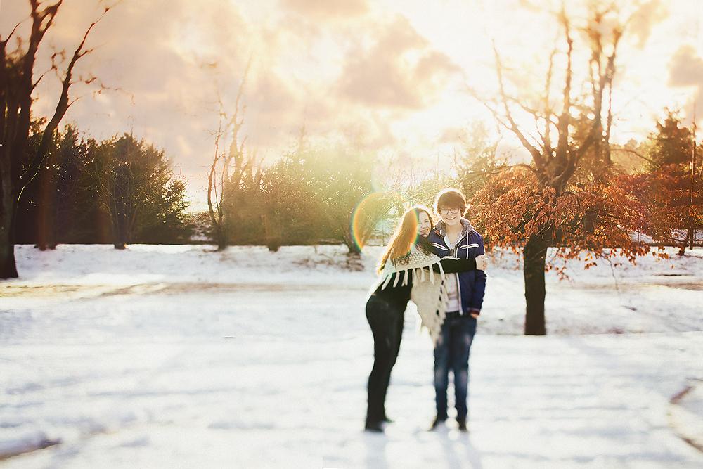 sneeuw fotografie met natuurlijk licht en een tiltshift lens workshop fotograaf apeldoorn