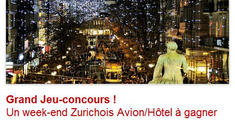 Concours weekend à Zurich
