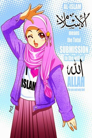 Gambar Kartun Wanita Muslimah Imut
