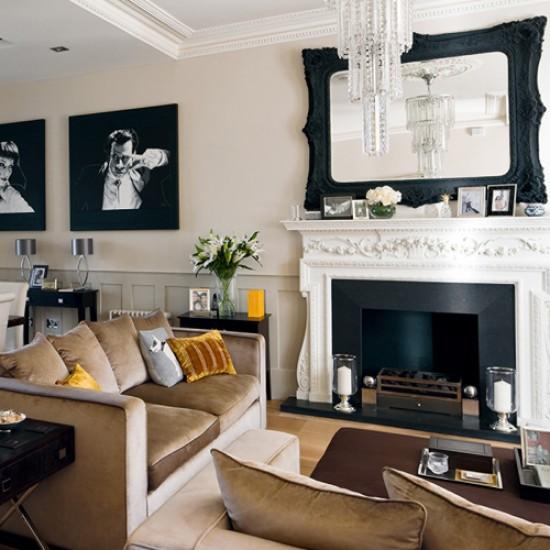 Salon clasico contemporaneo decorar tu casa es for Estilo clasico contemporaneo