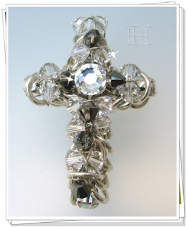 Swarovski and Chainmaille Handmade Cross
