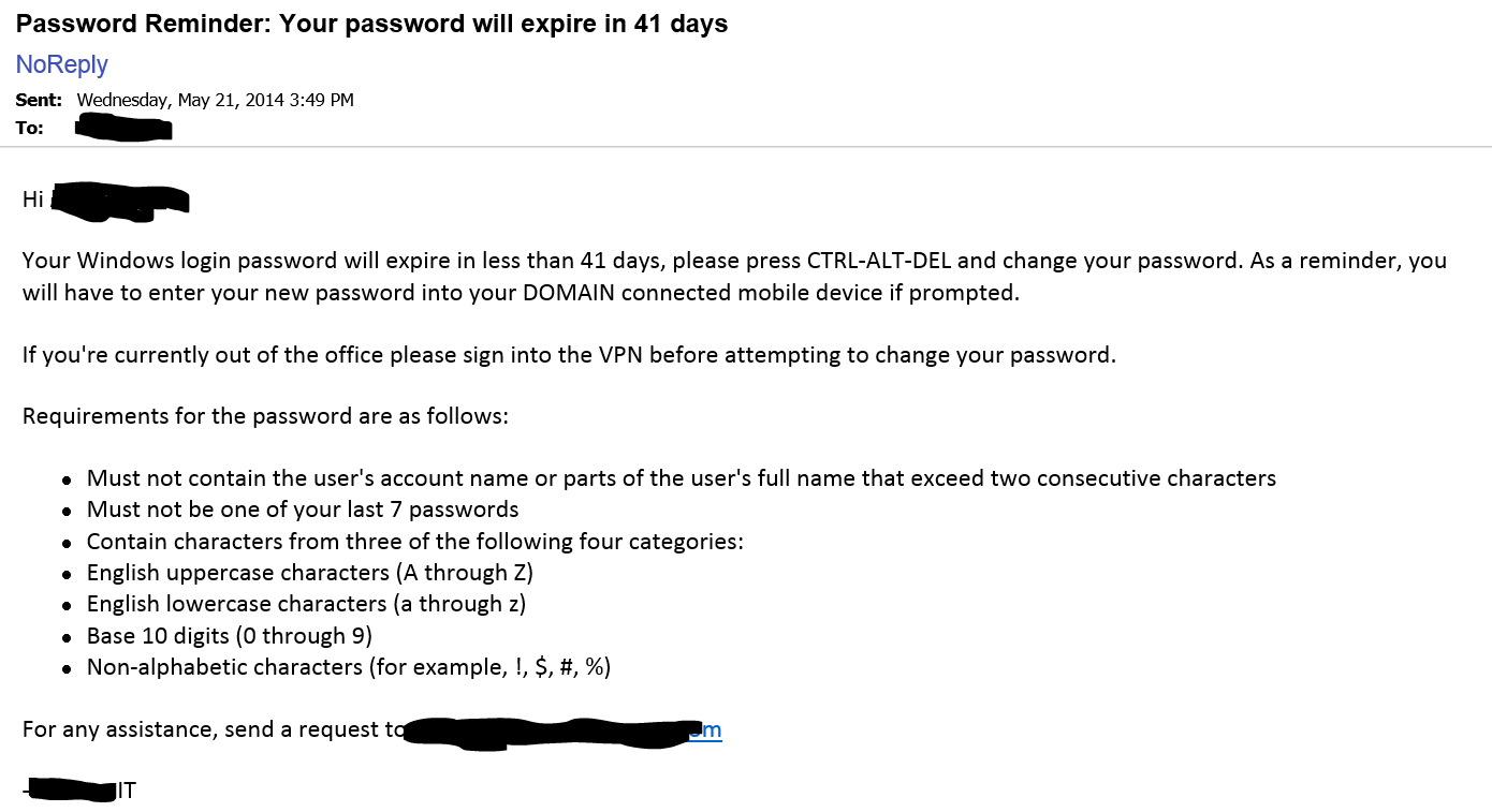 to 60 in the powershell script above because there s absolutely no way to manually set a password to be expired i find this odd but it is what it is