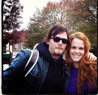 Norman Reedus (Daryl Dixon) on the set