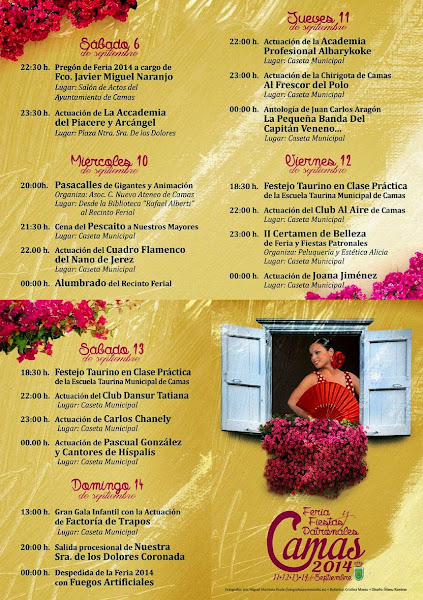 Camas - Programa de la Feria 2014