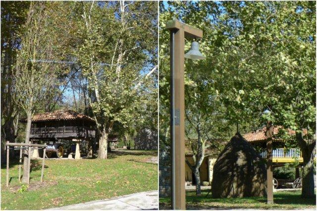 Jardines y horreos en el Museo del Pueblo de Asturias en Gijon - Vistas desde el comedor del Restaurante La Salgar en Gijon