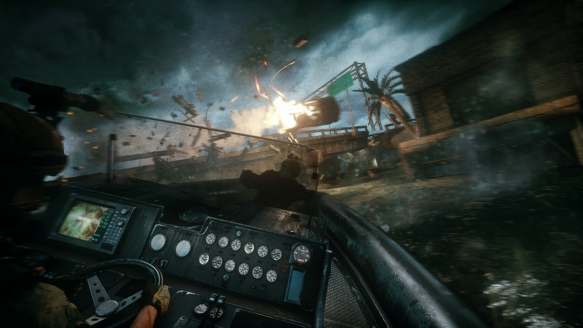 in-line boat pic of new video game named as MOH warfighter