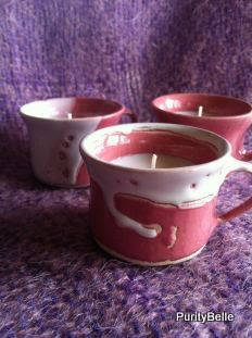 Small cup candles