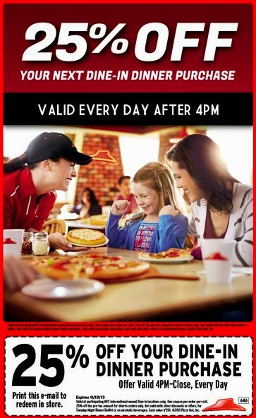 Pizza hut august coupons