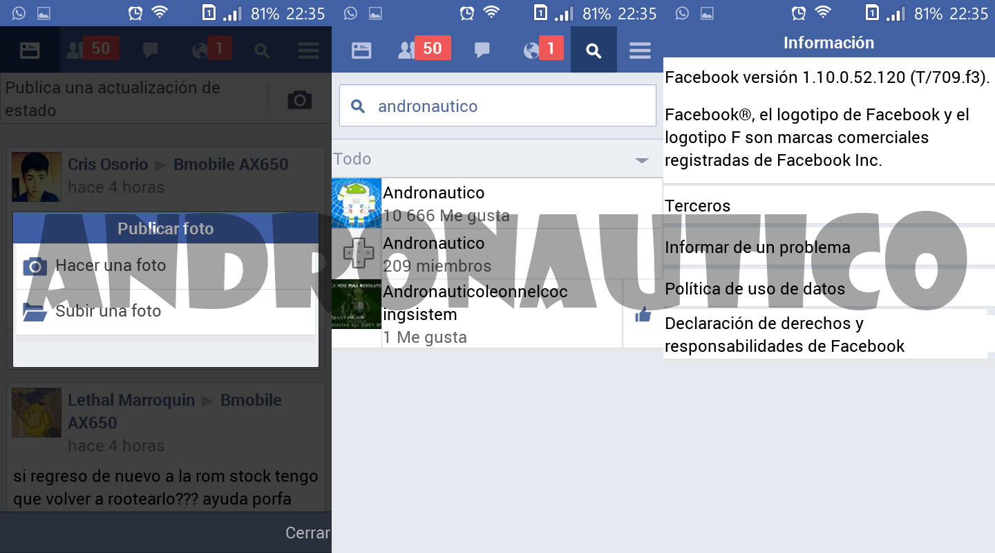 Como subir fotos facebok 64