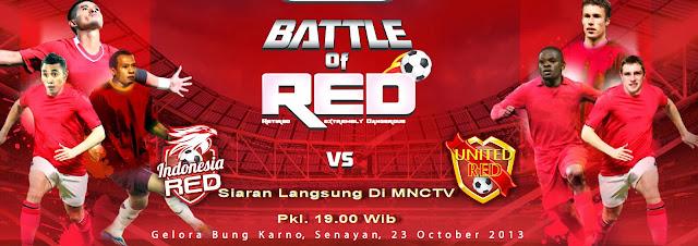 Jadwal Siaran Langsung Bola di MNCTV antara Indonesia Red Vs Manchester United Red Rabu 23 Oktober 2013