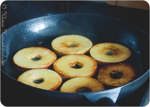 karamellisierte Apfelspalten