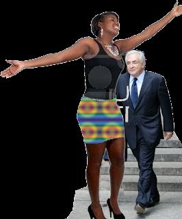 Photo Illustration de DSK et Ophélia, Nafissatou Diallo, une dame de Belle Taille