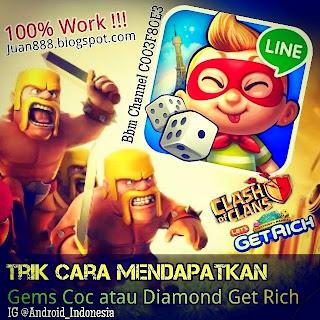 Cara Mendapatkan Gems Clash Of Clans dan Diamond Let Get Rich Gratis !!!