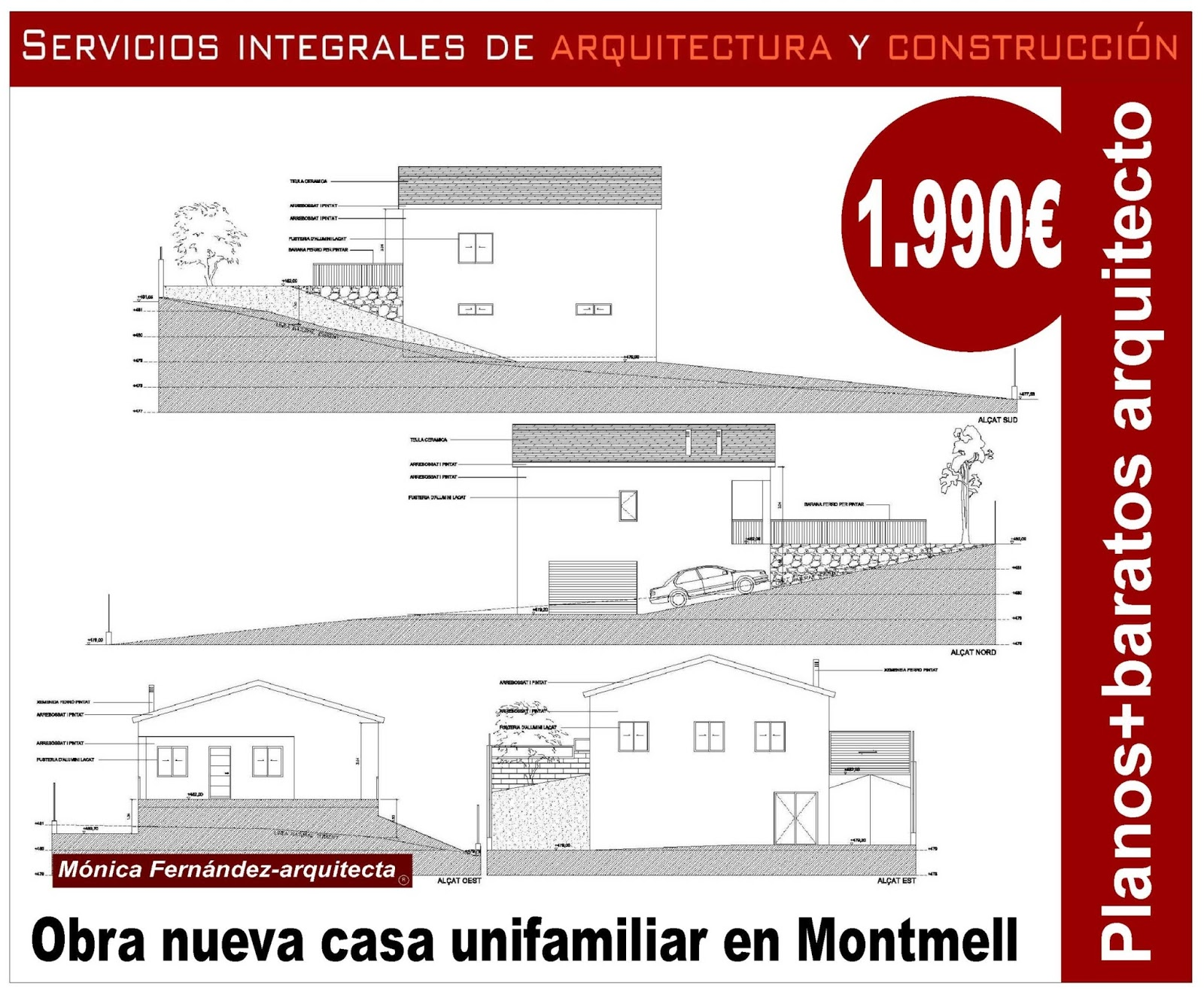Arquitecto habitatgesautor - Obra nueva en terrassa ...
