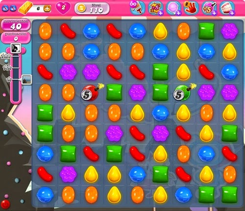 Nivel 110 de Candy Crush Saga