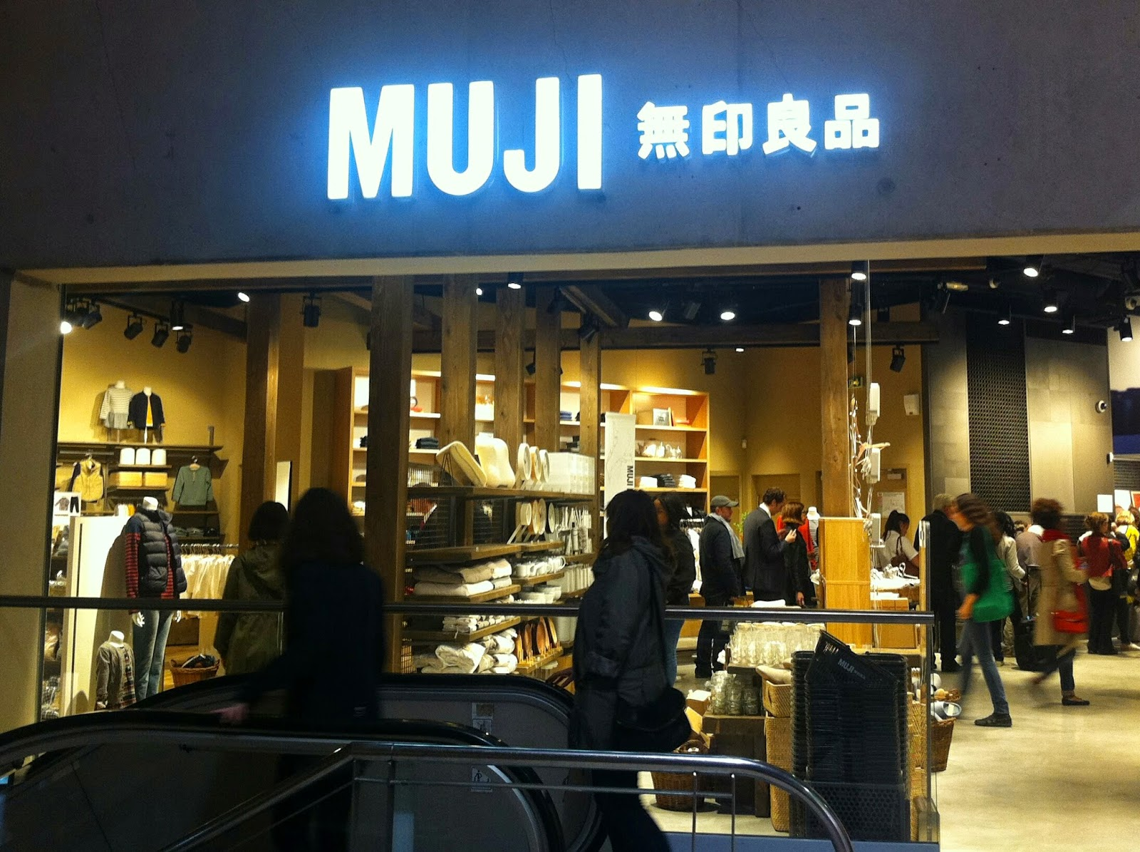 My skinny it blog grand opening europ en muji - Magasin japonais paris muji ...