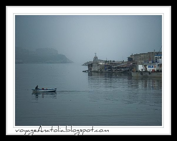 Fog at Fishermen's Port at Black Sea