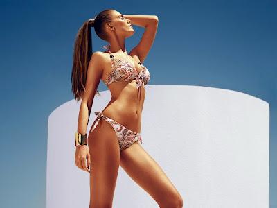 Maryna Linchuk hot model Chantelle sexy bikini