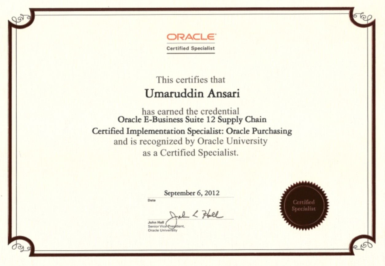 Oracle certified implementation specialist scm r12 purchasing oracle certified implementation specialist scm r12 purchasing certificate xflitez Images