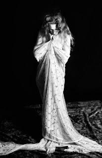 Sensuous photo shoot with artist's model