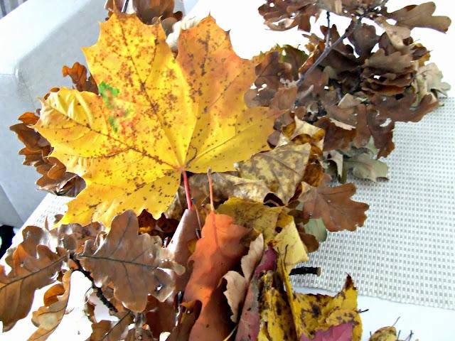 jesienne inspiracje kolorowe liście