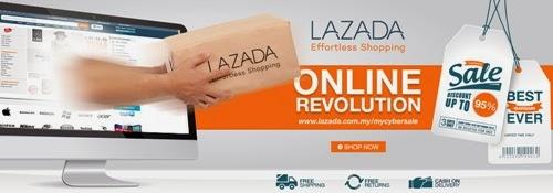 #MYCyberSALE: Jualan Siber Besar-Besaran! Jualan siber antaranya Groupon, Lazada Malaysia, Zalora, Rakuten, Air Asia, MAS, shopping di Lazada, diskaun, sale lazada