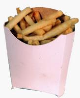 Caja para patatas o papas fritas.