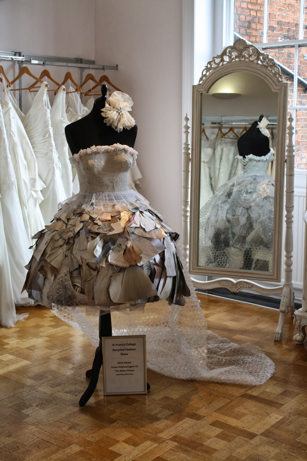 cliffordburrbridal blogspot used designer wedding dresses Recycled Wedding Dress by Emma Pritchard