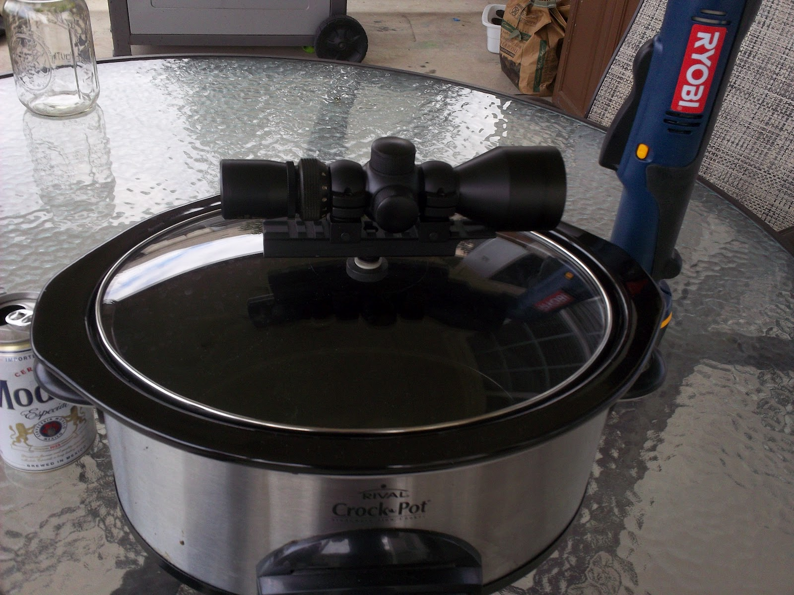 rock in a sea of chaos tactical crock pot getting ready for a chili cook off. Black Bedroom Furniture Sets. Home Design Ideas