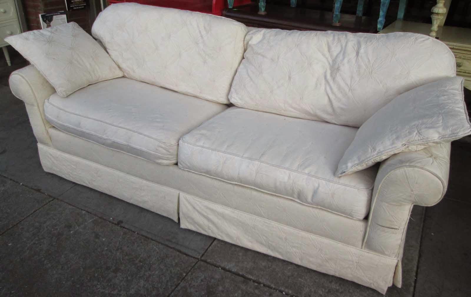 uhuru furniture collectibles sold white sofa sleeper 75