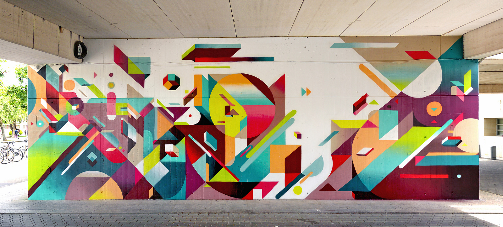 Nelio new mural in valencia spain streetartnews for Abstract mural art