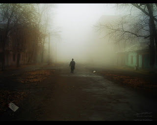 Lonely Street Dark Gothic Wallpaper