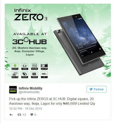Finally Infinix Zero 3 Price is Revealed