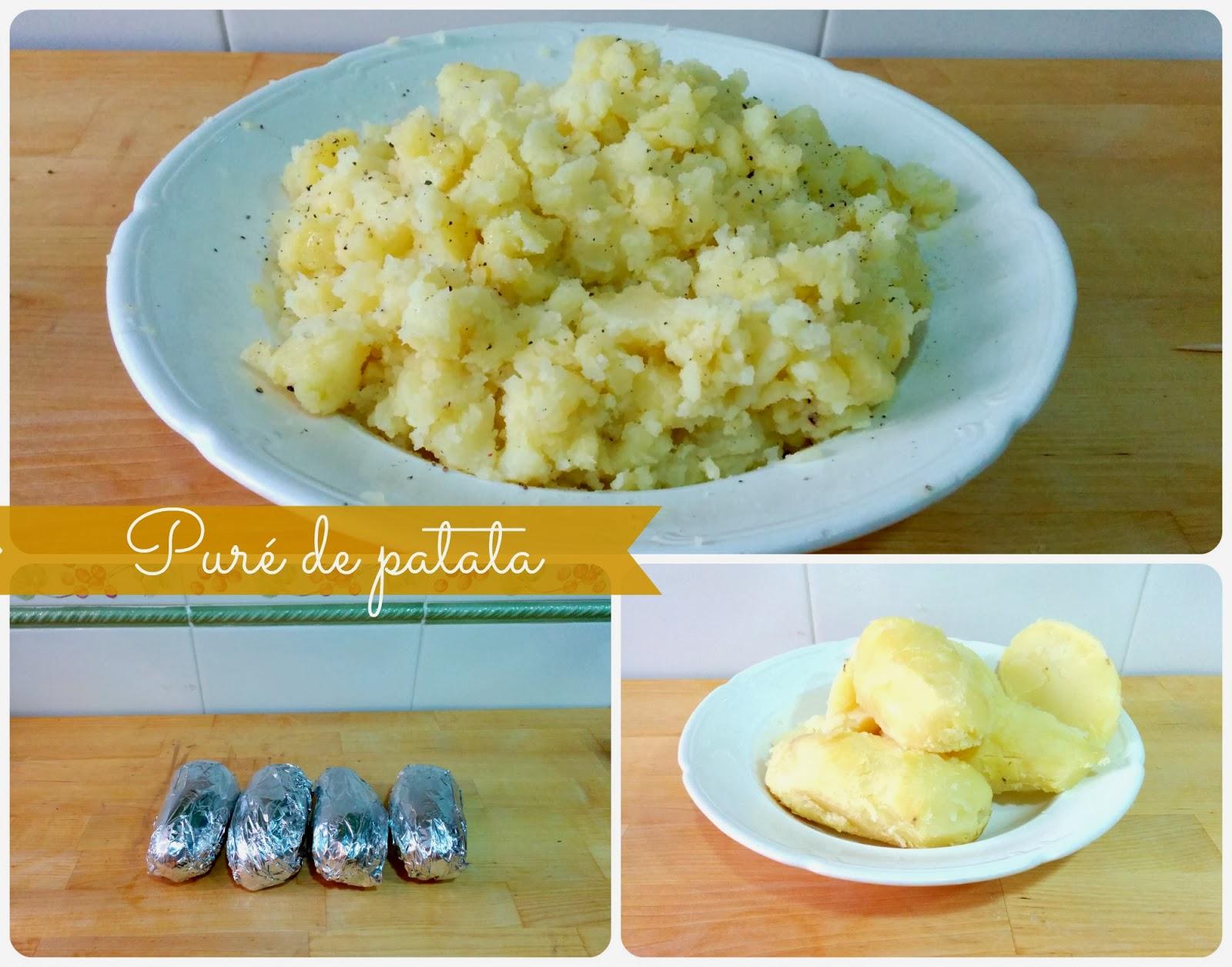 Puré de patata asada acompañamiento de solomillo de cerdo y salsa braten