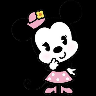 Desenho fofinho colorido Minnie com fundo transparente