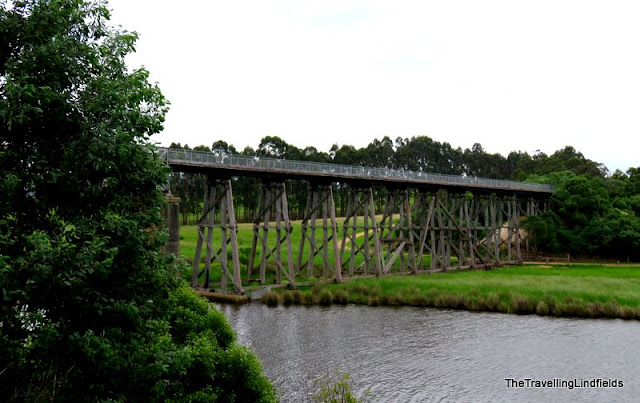 The old railway bridge at Nicholson, East Gippsland Rail Trail