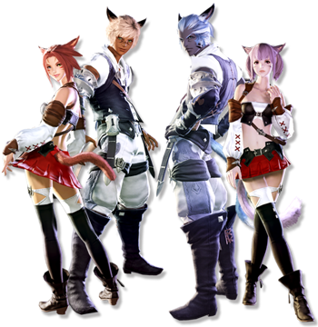 Sexy Final Fantasy XIV Miqote Girls' Cosplay Costume
