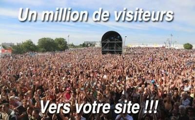 Un million de visiteurs FREE vers votre site