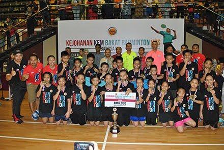 Sabah dinobat juara Kejohanan Kem Bakat Badminton KBS Kebangsaan 2015